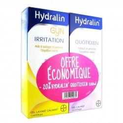 Hydralin Pack Irritation Gel Lavant Calmant 200ml + Quotidien Gel Lavant 200ml