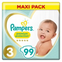 Pampers Premium Protection 3 6-10kg 99 pièces