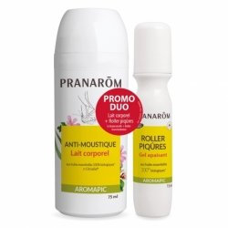 Pranarom Aromapic Anti-Moustique Roller Lait Corporel + Roller Piqûres 75ml + 15ml