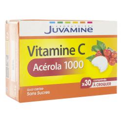 Juvamine Acérola 1000 30 comprimés à croquer