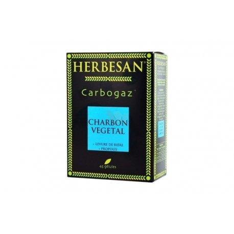 Herbesan Carbogaz Charbon Végétal 45 Gélules