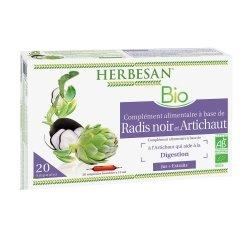 Herbesan Radis Noir-Artichaut Bio 20 Ampoules de 15ml