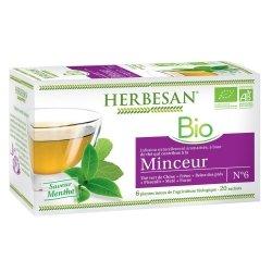 Herbesan Infusion Thé Vert Minceur Bio 20 Sachets