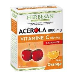 Herbesan Acérola 1000 Goût Orange 30 Comprimés