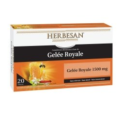 Herbesan Gelée Royale 1500mg 20 Ampoules de 15ml
