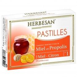 Herbesan Pastilles Miel Propolis 24 Pastilles