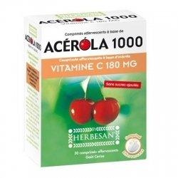 Herbesan Acérola 1000 Vitamine C 180mg 30 Comprimés Effervescents