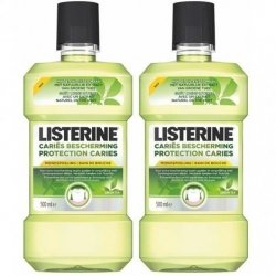Listerine Duo Pack Protection Caries Eau Buccale 2x500ml