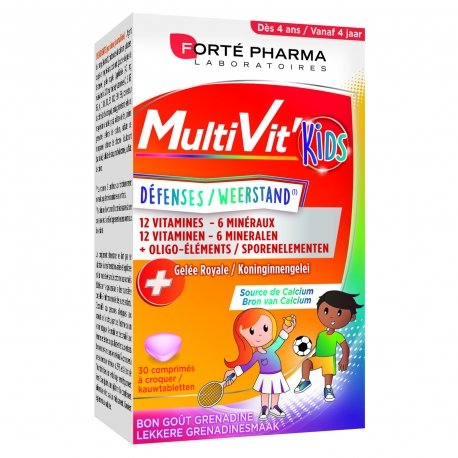 Forte Pharma Multivit' 4G Kids 30 comprimés