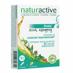 Naturactive Dual' Aux Essences Eucalyptus 10 gélules + 10 capsules