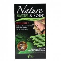 Nature et Soin Coloration Permanente Blond Clair Doré 8G 129ml