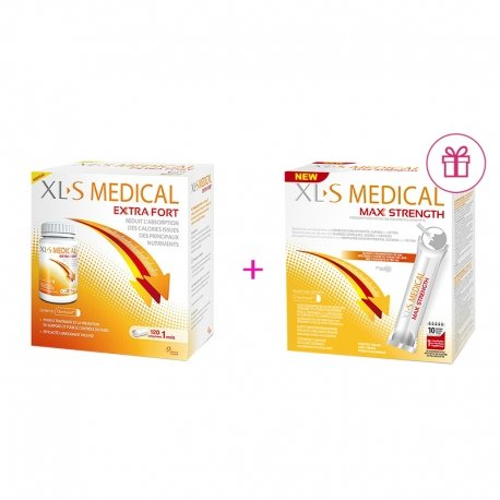 XLS Medical Max Strenght/Extra Fort 120 comprimés + XLS Medical Max Strenght/Extra Fort 20 sticks GRATUIT