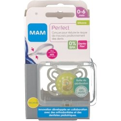 Mam sucette perfect silicone 0-6m
