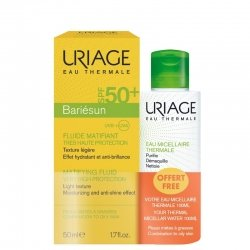 Uriage Bariésun Fluide Matifiant SPF50+ 50ml + Eau Micellaire Thermale 100ml