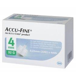 Accu-Fine Aiguilles Stériles pour Stylos à Insuline 0.25mm (31G) x 4mm 100 pièces