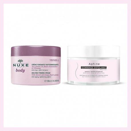 PACK Aphine Gommage exfoliant 250ml + Nuxe Body crème Fondante Raffermissante 200ml