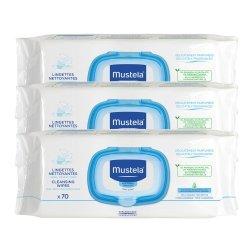 Mustela Bébé Lingettes Dermo-apaisantes pack 3x70 pièces