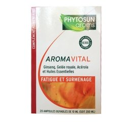 Phytosun Aroms AromaVital Fatigue et Surmenage 20 ampoules de 10ml