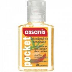 Assanis Pocket Gel Antibactérien Parfum Mangue 20ml