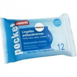 Assanis Pocket Lingettes Antibactériennes 12 lingettes