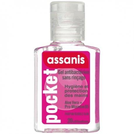 Assanis Pocket Gel Antibactérien Parfum Bubble Gum 20ml