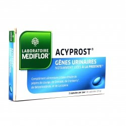 Médiflor Acyprost Gênes Urinaires 30 capsules