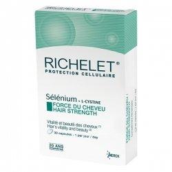 Richelet Sélénium + L-Cystine Force du Cheveu 30 capsules