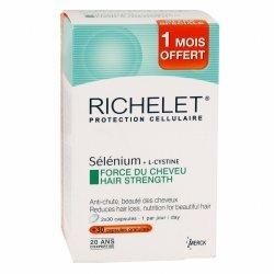 RICHELET Sélénium + L-Cystine Force du Cheveu 90 capsules