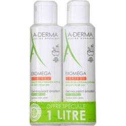 A-Derma Duo Exomega Control Gel Moussant Emollient 1L