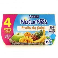 Naturnes fruits soleil pot 4x130g