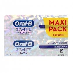 Oral-B 3D White Luxe Maxi Perfection Pack 2 x 75ml