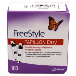 Abbott FreeStyle Papillon Easy Electrodes de Dosage Glycémie 100