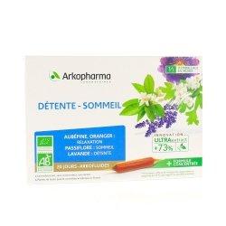 Arkofluides détente-sommeil Ampoules 20 doses