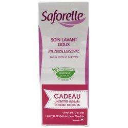 Saforelle Soin Lavant Doux 250ml + 10Lingettes OFFERTE