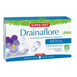 Superdiet Drainaflore Bio Détox 20 Ampoules x 15ml