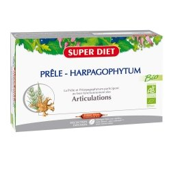Superdiet Prêle Harpagophytum Bio Articulations 20 Ampoules