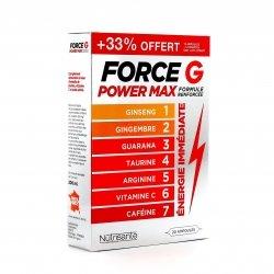 Nutrisanté Force G Power Max Formule Renforcée 15 ampoules + 5 OFFERTES
