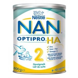 NAN Optipro HA 2 Lait de Suite Hyppoallergénique 800g