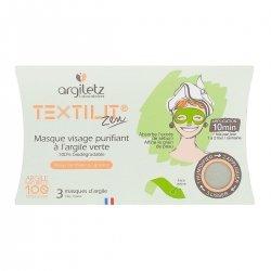 Argiletz Textilit Zen Masque Visage Purifiant à l'Argile Verte 3 masques