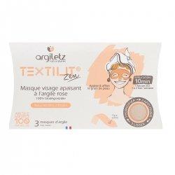 Argiletz Textilit Zen Masque Visage Apaisant à l'Argile Rose 3 masques