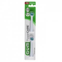 Gum PowerCare Recharges Brosse à Dents Electrique 2 unités