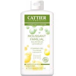 Cattier Moussant Familial Eau de Bleuet Lactosérum Sans Savon 500 ml