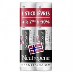 Neutrogena Duo Pack Stick Lèvres Nutrition SPF20 4,8g PROMO