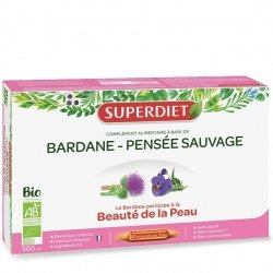 Super diet bardane-pensee sauvage bio amp 20x15ml