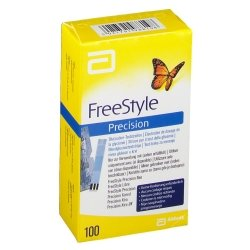 FreeStyle Precision Electrodes de Dosage de la Glycémie 100