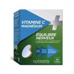 Nutrisanté Vitamine C + Magnésium Equilibre Nerveux 24 comprimés