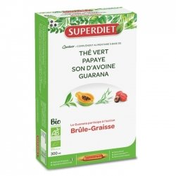 Superdiet Quatuor Guarana Brûle-Graisse Bio 20 ampoules de 15ml