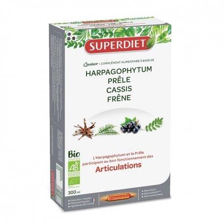 Superdiet Quatuor Prêle Articulations Bio 20 ampoules de 15ml