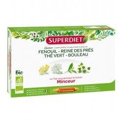 Superdiet Quatuor Thé Vert Minceur Bio 20 ampoules