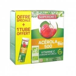 Superdiet Acérola 500 Bio Offre Spéciale 24 comprimés + 12 OFFERTS